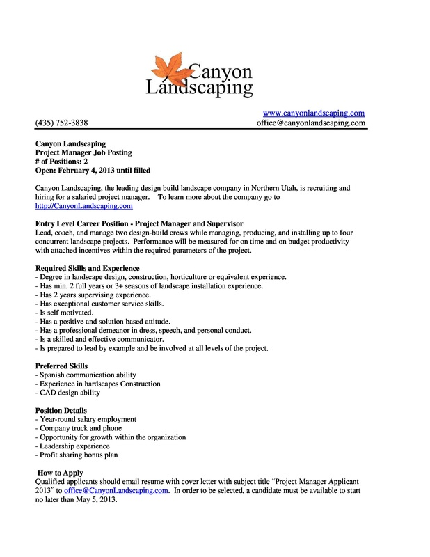 JobInternship Postings  ByuIdaho Applied Plant Science